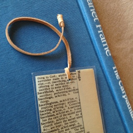 Found Words leather cord